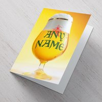 Personalised Card - Beer Glass - Beer Gifts