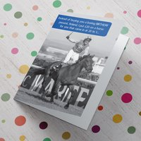 Personalised Card - 20 to 1 Horse - Horse Gifts