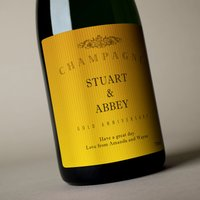 Luxury Personalised Champagne - Gold Anniversary