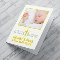 Photo Upload Card - Christening