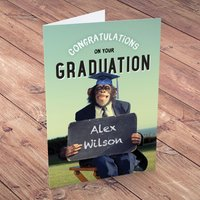 Personalised Card - Graduation Chimp - Graduation Gifts