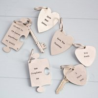 Personalised Hand Stamped Key Ring - Key Ring Gifts