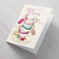 Personalised Mother's Day Card - Tea Cups - Cups Gifts