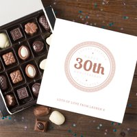 Personalised Belgian Chocolates - 30th Anniversary - 30th Gifts