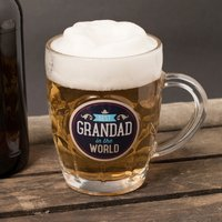 Classic Grandad Dimple Beer Glass - Beer Glass Gifts