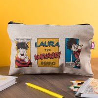 Personalised Beano Classic Canvas Pencil Case - Problem Solved - Pencil Case Gifts