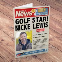 Photo Upload Card - Golfing News - News Gifts