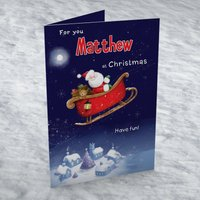 Personalised Card - Santa Sleigh - Getting Personal Gifts