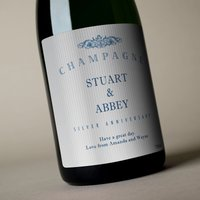 Luxury Personalised Champagne - Silver Anniversary