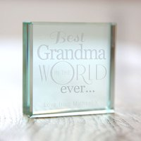 Personalised Glass Token - Best Grandma In The World