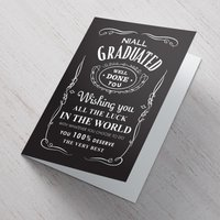 Personalised Card - Graduation Black Label - Graduation Gifts