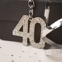 Crystal Keyring - 40th Birthday