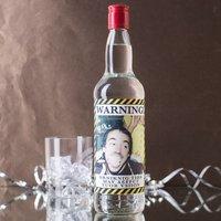 Personalised Vodka - Warning! Photo Upload - Vodka Gifts