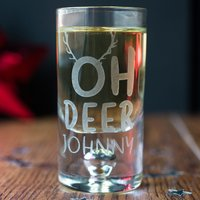 Personalised Shot Glass with Miniature - Oh Deer - Shot Glass Gifts