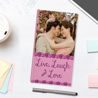 Photo Upload Slim Diary - Live, Laugh & Love - Laugh Gifts