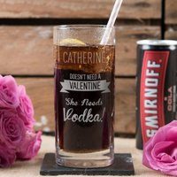 Personalised Highball Glass With Smirnoff & Cola Can - Doesn't Need A Valentine