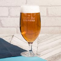 Personalised Cabernet Stem Beer Glass - World's Best - Beer Glass Gifts