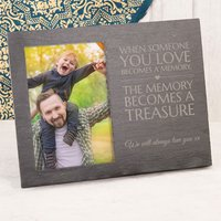 Engraved Slate Chalkboard Photo Frame - When Someone You Love