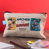 Personalised Beano Classic Canvas Pencil Case - Water Pistol - Pencil Case Gifts
