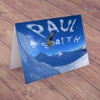 Personalised Card - Ski Jump - Ski Gifts