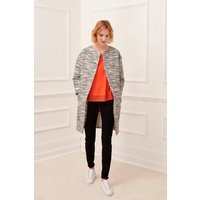 Riviera Stitch Collarless Coat