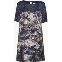 Nordic Forest Print Dress
