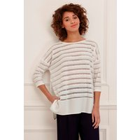 Tabitha Jersey Perforated Detail Top