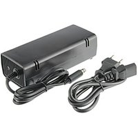 XBOX 360E AC Adapter (US Plug) Wired Black Plastic 1 Adapter, 1 Cable