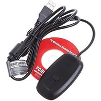 Wireless Gaming USB Adapter Receiver Microsoft XBOX 360 PC Controller(Black)