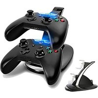 Dual USB Charging Station LED light Fast Two Charging Charge Dock Stand with USB Charge Cable for Microsoft Xbox OneS Gaming Controllers