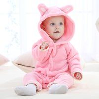 Baby's Cute Zoo Shape Snap-up Hooded Jumpsuit