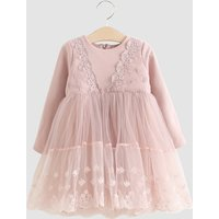 Sweet Lace Mesh Long Sleeve Princess Dress for Girls