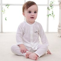 2-piece Cotton Striped Top and Pants Pajamas for Babies