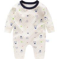 Sweet Rabbit Pattern Polka Dots Long-sleeve Jumpsuit for Babies
