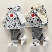 Baby Boy Stylish 3-piece  Shirt,Star Patterned Vest and Pants Set