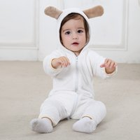 Adorable Hooded Zip-up Bear Jumpsuit for Babies