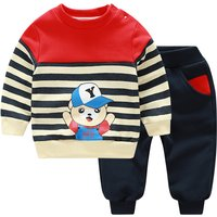2-piece Sporty Striped Top and Pants Set for Baby and Toddlers