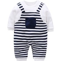 Cool Striped Long-sleeve Jumpsuit for Babies