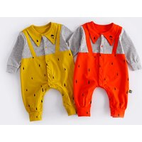 Lovely Contrast Long-sleeve Raindrops Jumpsuit for Babies