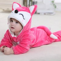 Fox Shape Long-sleeve Cute Romper for Baby