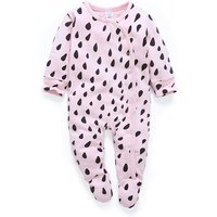 Lovely Raindrops Pattern Long-sleeve Footie Jumpsuit for Babies