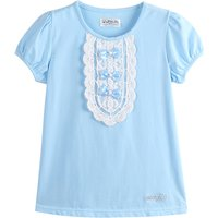 Sweet Lace-detailed Short Sleeve Tee doe Girls
