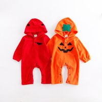 Cool Halloween Hooded Long-sleeve Jumpsuit for Babies