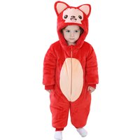 Cute Little Fox Hooded Pajamas for Babies