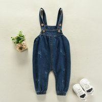 Sweet Denim Straps Pants for Baby