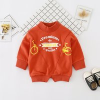 Bicycle Printed Long-sleeve Pullover for Babies