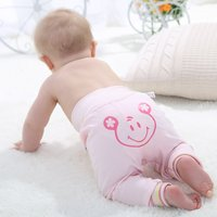 Cute Graphic Print High-waist Pants for Babies