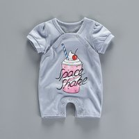 Cool Ice-cream Print Short-sleeve Romper for Babies