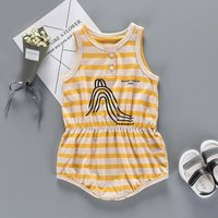 Stylish Striped Sleeveless Bodysuit for Babies