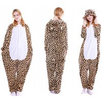 Adorable Leopard All-in-one Hooded Pajamas for Kids